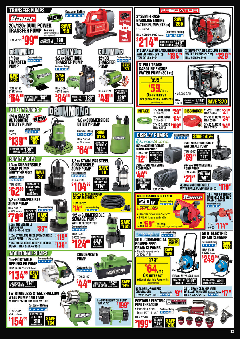 Harbor Freight Tools September 2020 Main Catalog 082520 Page